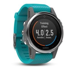 Andorra-Garmin Fenix 5S Silver with Turquoise Band
