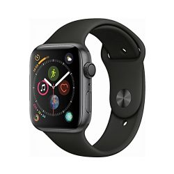 Andorra-Apple Watch Series 4 Space Gray Aluminum Case Black Sport Band 40mm